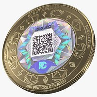 Ethereum ETH Cryptocurrency Coin Gold