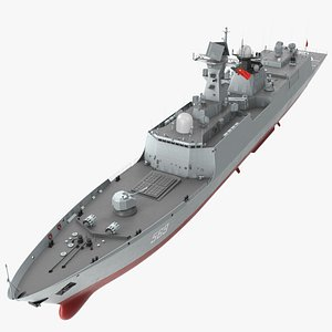 3D Type 054A Frigate Rigged model