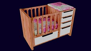 BED FOR BABY 3D