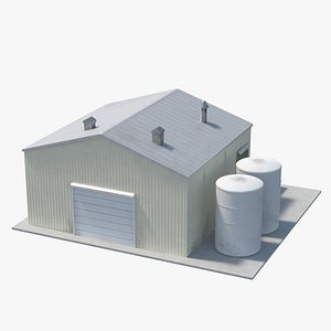 Industrial Site Building 06 3D model