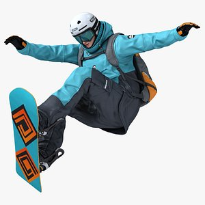 snowboarder animation 3D model