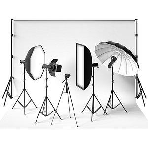 photo studio 3D model