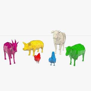 domestic farm animals model