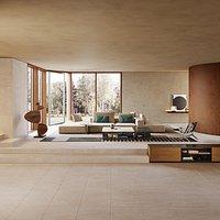 Poliform westside interior living scene