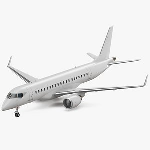 jet airliner rigged air 3D model