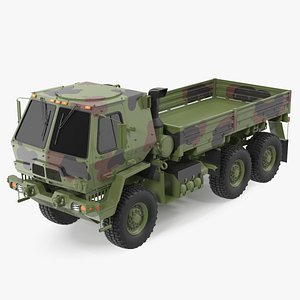 Oshkosh Camouflage Cargo Truck Exterior Only 3D model