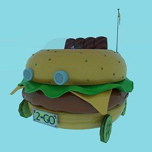 cartoon burger 3D