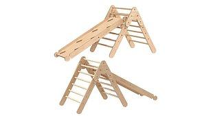 3D Montessori room pikler triangle ramp