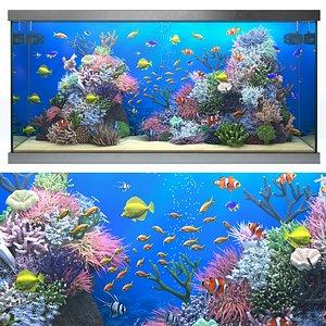 3D saltwater aquarium