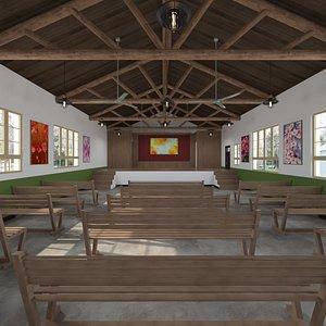 Full Rustic Gatherings Lodge 3D model