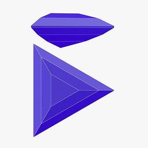 Triangle Gemstone - 3D Printable 3D