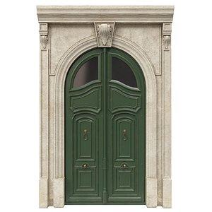 Entrance classic door 45 3D model