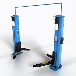 3D Hydraulic Car Lift