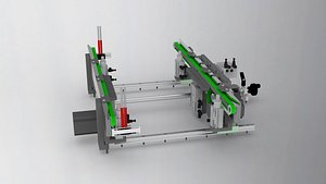 Variable pitch conveyor 3D model