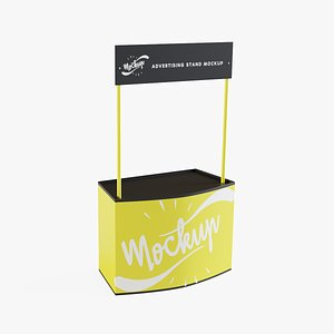 3D mockup advertising stand model
