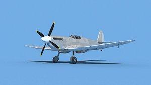 Supermarine Spitfire Mk IXb  V00 3D model