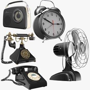 Five Vintage Black Electronics model