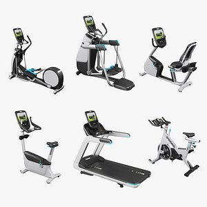 Precor collection 2021 and Fitness equipment  set 3D model