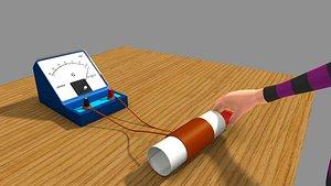Electromagnetic Field Meter 3D model