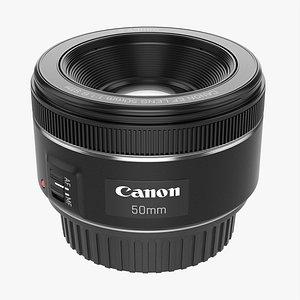 3D Canon DSLR EF 50mm f1.8 STM Lens model