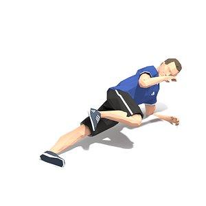 3D exercise man model