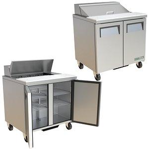 FOOD PREP TABLE TRUE TSSU SERIES TSSU-36-08-HC 3D