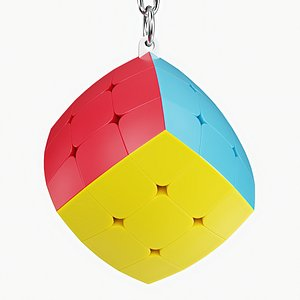 3D model cube keyring