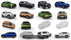 6 suv car uv 3D model