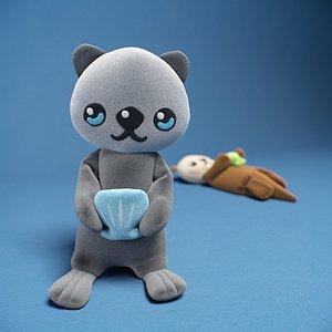 3D kids otter toy