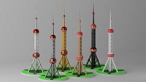Shanghai Oriental Pearl TV Tower model