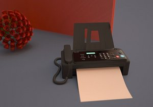 Scanners, printers, fax machines, office equipment, typewriters 3D model