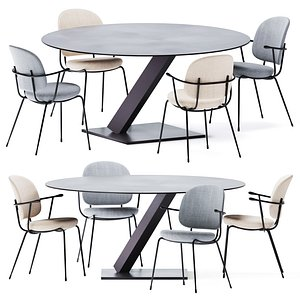 3D Element Round Dining Table by Desalto