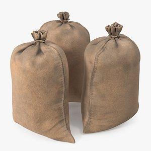 Standing Military Sandbags Dusty 3D model
