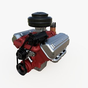 vintage hemi engine 3D model