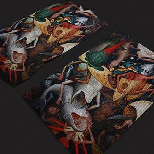 3D Fall of the Rebel Angel Version 1 Tapestry