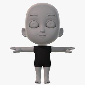 3D base mesh child character