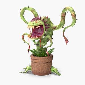 carnivorous flytrap plant 3D model