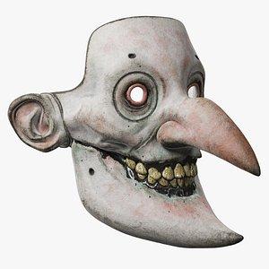 3D Harlequin Mask model