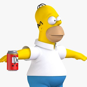 3D homer simpson character