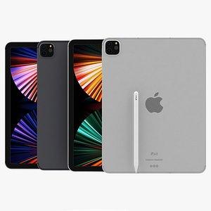 3D model Apple iPad Pro 12.9 inch 2021 All Colors