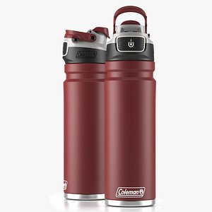 3D Coleman autoseal water bottle Red model