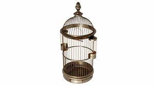 3D vintage birdcage