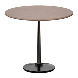 Nero 36 Concrete Dining Table with Matte Black Base 3D model