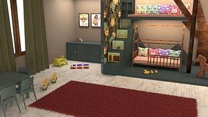 children s room child 3D