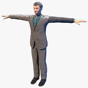 business man corporate 3D model