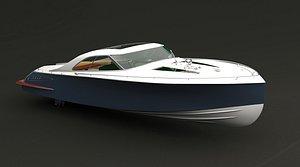 3D speedboat yacht