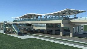 3D model Light Rail Station 02