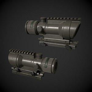 ACOG Rifle Scope 3D model