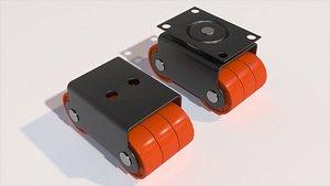 wheel sixer caster 3D model