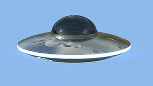 Spaceship UFO B1 - Gray - Alien SciFi Vehicle model